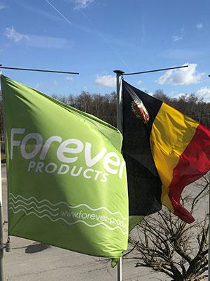 Drapeaux Belge et Forever Products